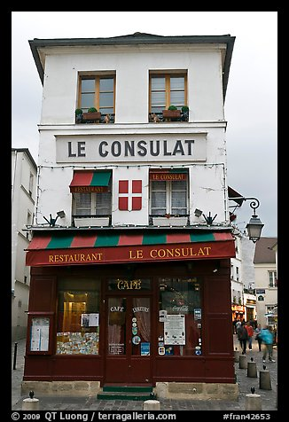 Picture photo le consulat restaurant montmartre paris for Le miroir restaurant montmartre
