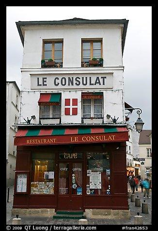 Picture photo le consulat restaurant montmartre paris for Restaurant le miroir montmartre
