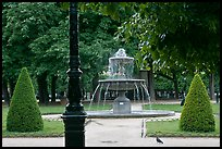 Cortot Fountain in park, place des Vosges. Paris, France