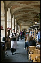 Arcades, place des Vosges. Paris, France (color)