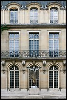 Facade of hotel particulier. Paris, France