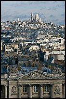Rooftops and Montmartre Hill. Paris, France ( color)