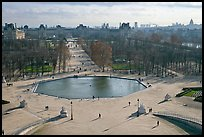Jardin des Tuileries and Louvre in winter. Paris, France