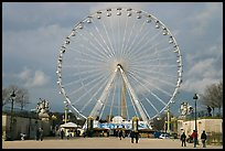 La grande roue from the Tuileries Garden. Paris, France (color)