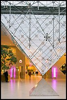 Pyramide inversee (Inverted pyramid) skylight. Paris, France