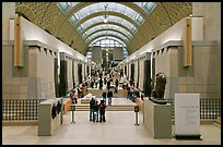 Interior of the Musee d'Orsay. Paris, France