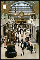 Inside the Orsay museum. Paris, France