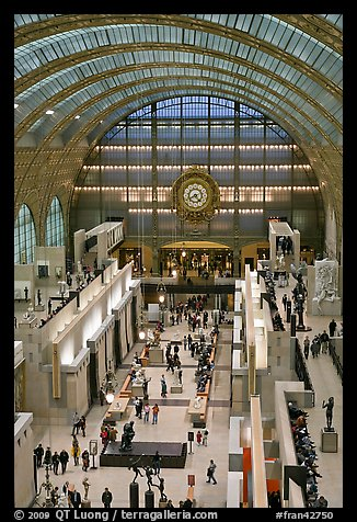 Inside of the Musee d'Orsay. Paris, France (color)