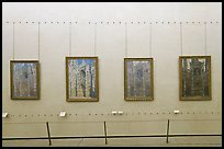 Monet's impressionist paintings of the Rouen Cathedral, Musee d'Orsay. Paris, France