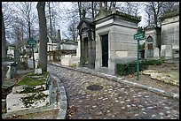 Memorials and tombs, Pere Lachaise cemetery. Paris, France (color)