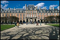 Place des Vosges, Le Marais. Paris, France (color)