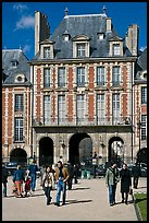 Pavillion de la Reine, Place des Vosges. Paris, France