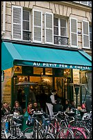 Cafe and bicycles, le Marais. Paris, France
