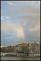 Rainbow above Ile St Louis. Paris, France (color)