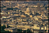 The Quartier Latin seen from the Montparnasse Tower, late afternoon. Quartier Latin, Paris, France ( color)