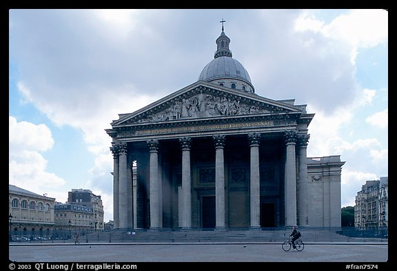 Pantheon. Quartier Latin, Paris, France (color)