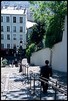 Staircase, Montmartre. Paris, France ( color)