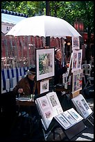 Painters on Place du Tertre,  Montmartre. Paris, France ( color)