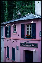 La Maison Rose, Montmartre. Paris, France (color)