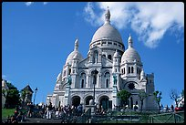 Basilique du Sacre Coeur, seen from the Butte, Montmartre. Paris, France ( color)