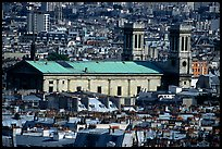 Saint Vincent de Paul  church and rooftops seen from Montmartre. Paris, France