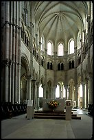 Apse of the Romanesque church of Vezelay. Burgundy, France ( color)