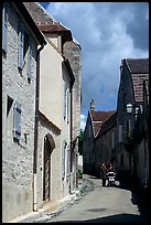 Old street in Vezelay. Burgundy, France
