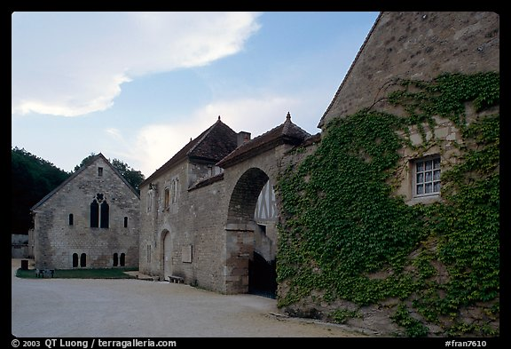 Fontenay Abbey. Burgundy, France (color)