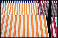 Cloth covers of market stands, Nice. Maritime Alps, France (color)