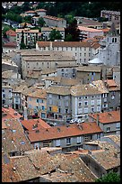 The old town of Sisteron. France (color)
