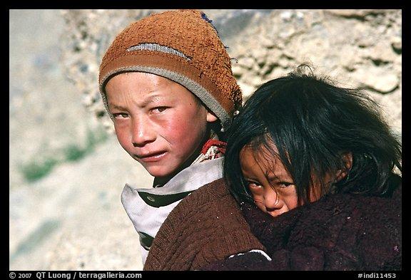 Children, Zanskar, Jammu and Kashmir. India (color)