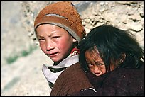 Children, Zanskar, Jammu and Kashmir. India (color)