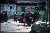 Group of villagers,  Zanskar, Jammu and Kashmir. India (color)