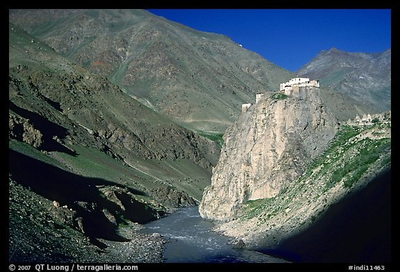 Bardan monastery at the entrance of Lungnak Valley, Zanskar, Jammu and Kashmir. India