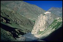 Bardan monastery at the entrance of Lungnak Valley, Zanskar, Jammu and Kashmir. India (color)