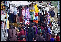 Market, Keylong, Himachal Pradesh. India (color)