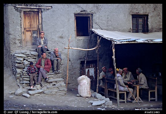 House and eatery, Himachal Pradesh. India (color)