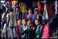 Women in market, Keylong, Himachal Pradesh. India ( color)