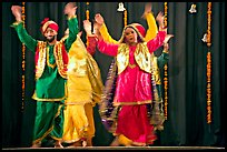 Performances at Dances of India. New Delhi, India ( color)