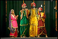 Traditional dances. New Delhi, India (color)