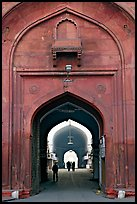 Gate leading to the Chatta Chowk (Covered Bazar), Red Fort. New Delhi, India