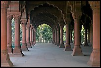 Diwan-i-Am (Hall of public audiences), Red Fort. New Delhi, India (color)