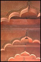 Arches and roof detail, Diwan-i-Am, Red Fort. New Delhi, India (color)