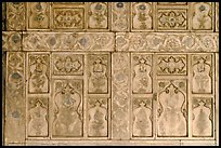 Marble wall decor,  Diwan-i-Khas, Red Fort. New Delhi, India