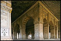 Columns and arches, Royal Baths, Red Fort. New Delhi, India ( color)