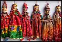 Puppets for sale, Chatta Chowk, Red Fort. New Delhi, India (color)