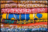 Fabrics for sale, Covered Bazar, Red Fort. New Delhi, India ( color)