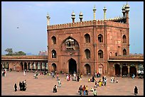 Courtyard and East gate of Masjid-i-Jahan Numa. New Delhi, India (color)