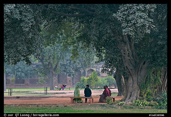 Gardens of Humayun's tomb. New Delhi, India