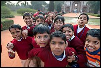 Schoolchildren, Humayun's tomb. New Delhi, India ( color)